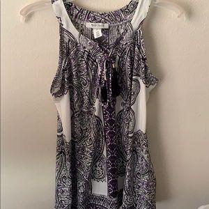 Purple and Black blouse